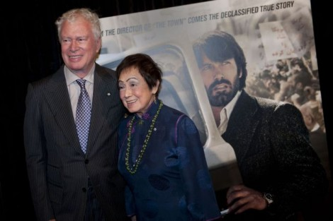 "Ken and Pat Taylor attend the premier of ""Argo"" in Washington, DC on October 10, 2012. (Photo: Leigh Vogel/AFP/Getty Images)"