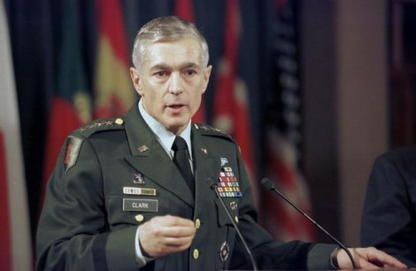 NATO Supreme Commander Gen. Wesley Clark at a press conference in march 1999 at NATO Headquarters in Brussels, Belgium (Getty Images)