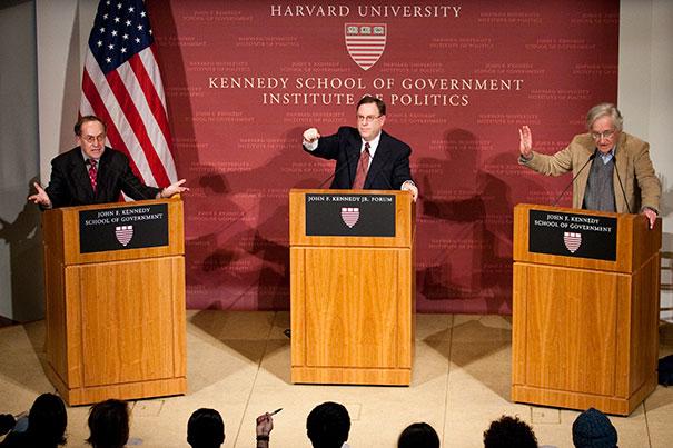 Clashing Views of Political Reality: Chomsky versus Dershowitz