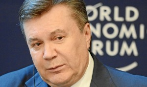 Then President of Ukraine Viktor Yanukovych at the annual World Economic Forum meeting in Davos, Switzerland, January 24, 2013 (World Economic Forum)