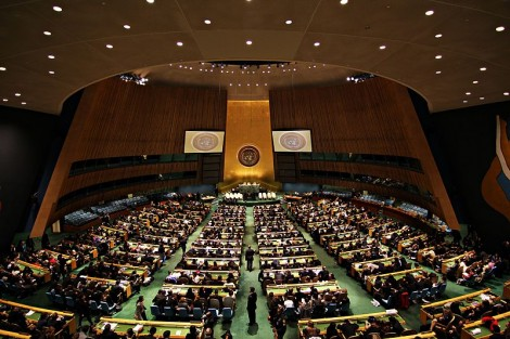 The United Nations General Assembly Hall at the UN headquarters in New York (Basil D. Soufi/Wikimedia Commons)