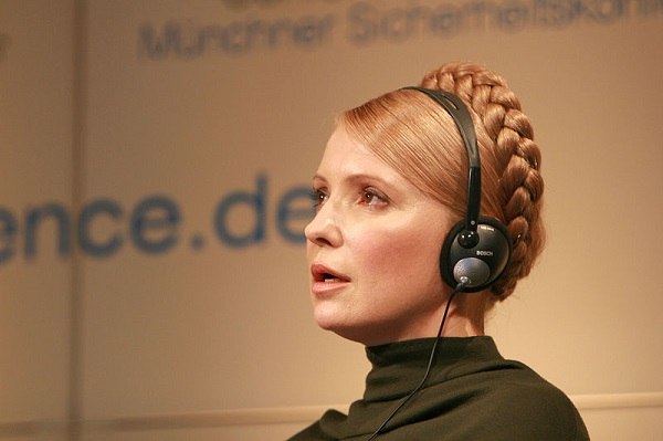 Yulia V. Timoshenko, then Prime Minister of Ukraine, at the 45th Munich Security Conference in 2009 (Harald Dettenborn/Wikimedia Commons)