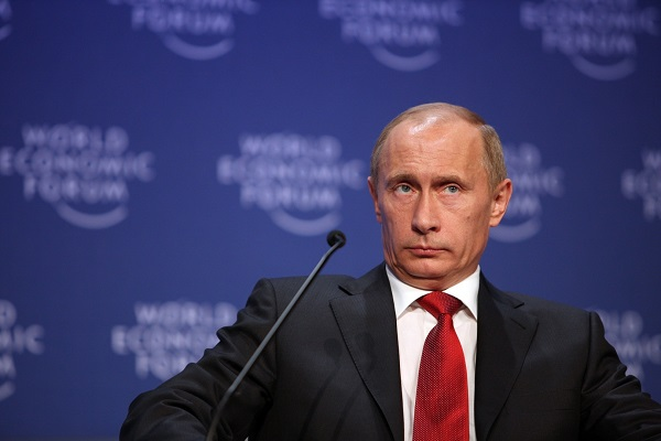 Vladimir Putin at the World Economic Forum in Davos, Switzerland, on January 28, 2009 (World Economic Forum/Flickr)
