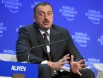 Ilham Aliyev, President of Azerbaijan, at the World Economic Forum in Davos, Switzerland, on January 29, 2009 (WEF)