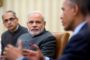 President Barack Obama talks with Prime Minister Narendra Modi inthe White House, September 30, 2014 (Pete Souza/White House)