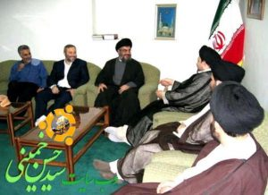Meeting of the trio: Imad Mugniyeh, Qassem Soleimani and Sheikh Nasrallah. (Al Manar TV)