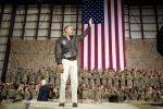 President Barack Obama waves at the conclusion of his remarks to U.S. troops at Bagram Airfield in Bagram, Afghanistan, Sunday, May 25, 2014. (Pete Souza/White House)