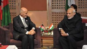 Afghan President Ashraf Ghani with Indian President Narendra Modi on December 1, 2014 (Narendra Modi)