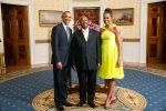 President Barack Obama and First Lady Michelle Obama with Ugandan President Yoweri Museveni at the White House, August 5, 2014 (Amanda Lucidon/White House)