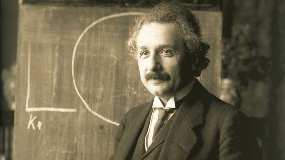 Albert Einstein during a lecture in Vienna in 1921 (Public Domain)
