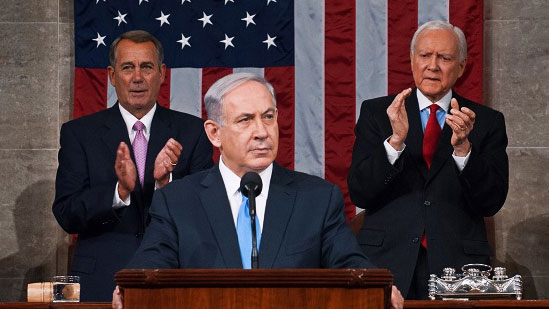 Israeli Prime Minister Benjamin Netanyahu addressing the US Congress on March 3, 2016 (US House of Representatives)