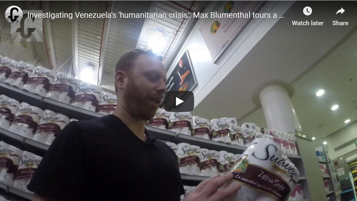 Max Blumenthal in Caracas, Venezuela