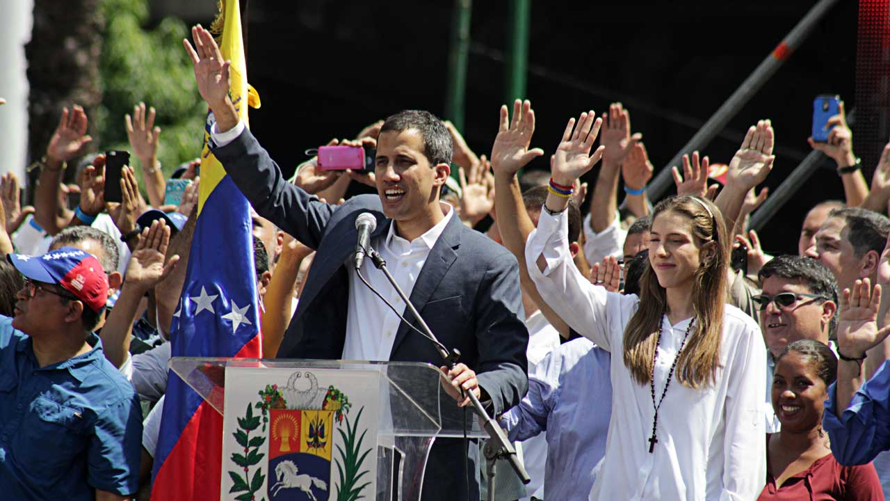 Juan Guaido at a rally in Caracas on February 2, 2019 (Alexcocopro/CC BY-SA 4.0)