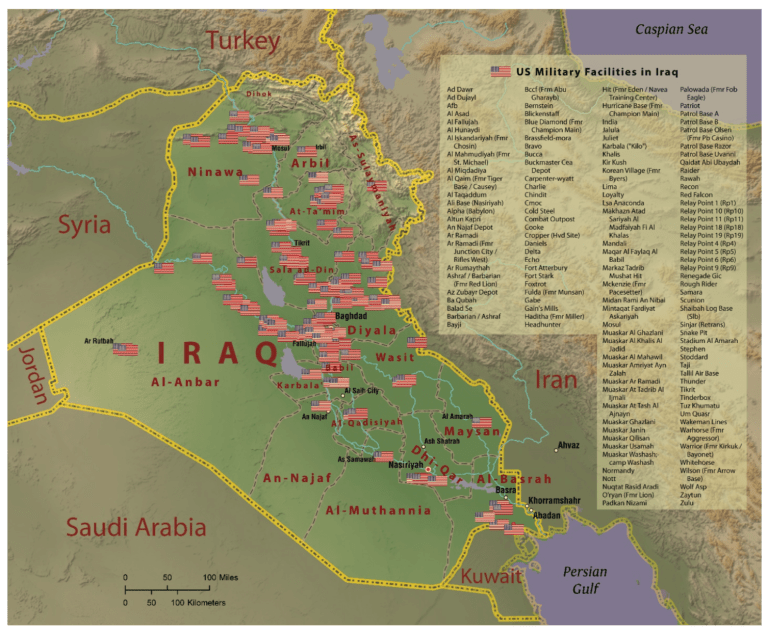 US Bases in Iraq