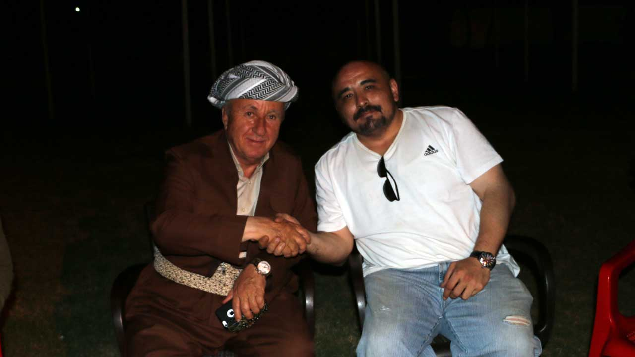 Reza Zebari, tribal head (left), with the author (right)