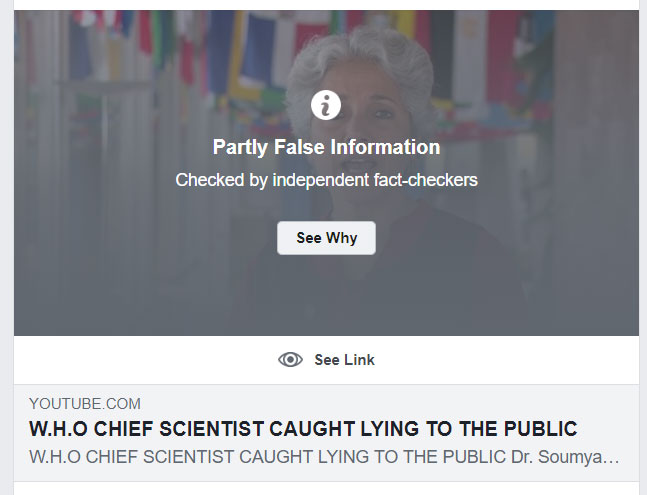 "A Facebook ""Fact Check"" warns users about a truthful video"